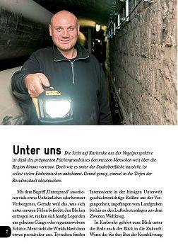 Gang, Karlsruhe, Schloss, unterirdisch