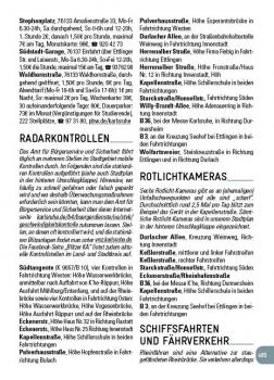 Radarfallen, Rotlichtkameras, Karlsruhe, Stadtbuch